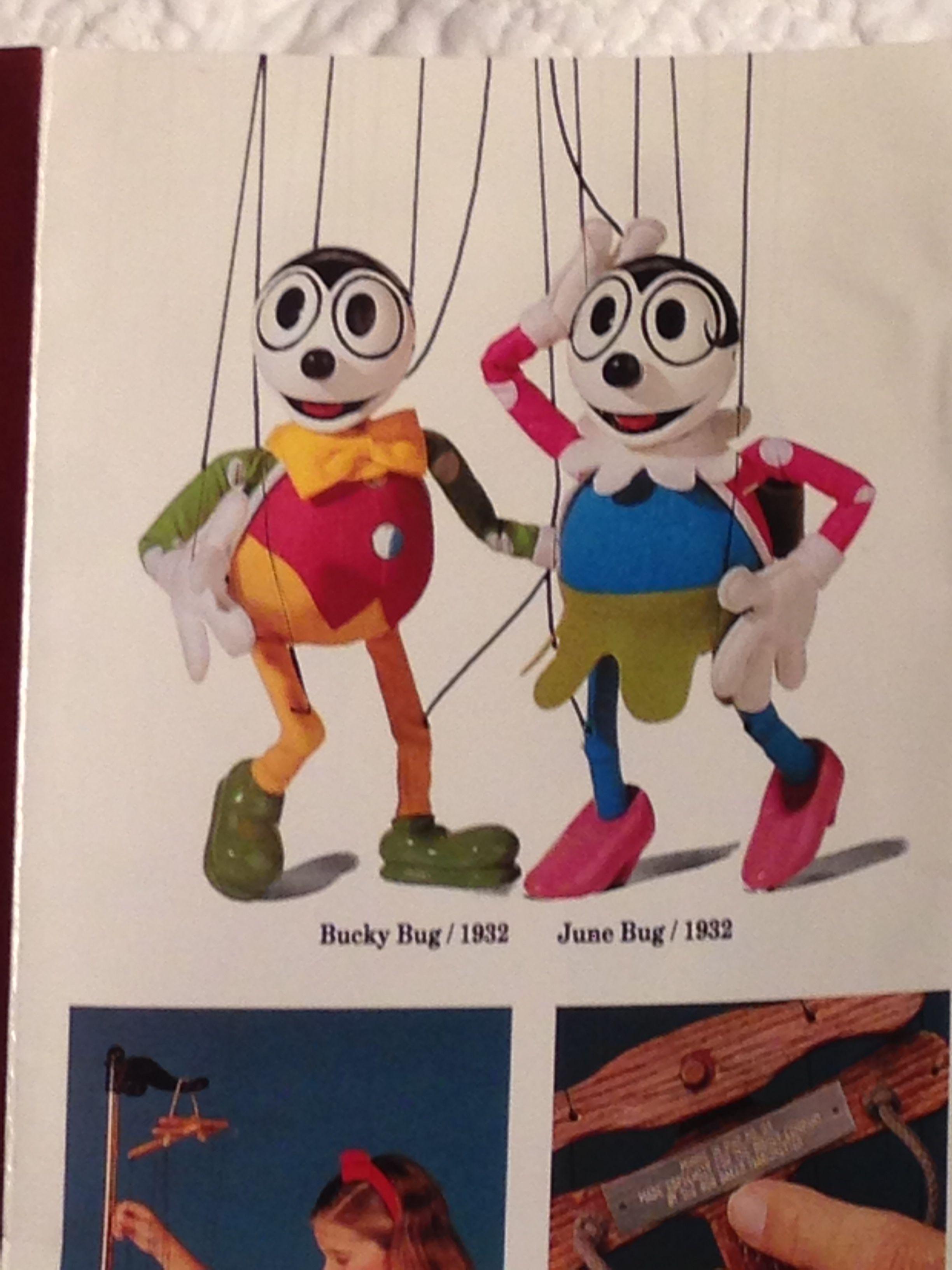 Disney S Bob Baker Marionette Collection Bucky Bug June Bug Disney Olaf The Snowman Disney Characters