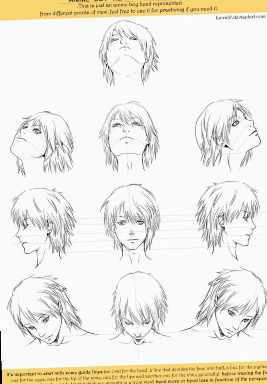 16 Anime Face Angles Male Anime Character Drawing Anime Head Manga Drawing