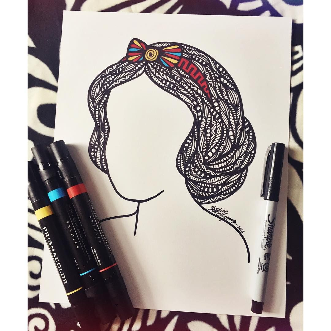 """Snow White once said, """"you're never too old to be young."""" and I couldn't agree with her more! who is your favorite princess? #zentangle #zenspire #blynndesigns #disney #snowwhite #faceless #art"""