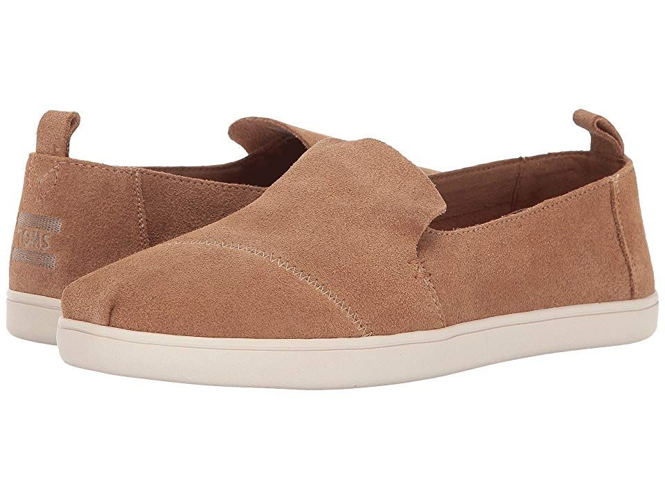 TOMS Deconstructed Alpargata Toffee Suede cupsole Womens Slip on Shoes With every pair of shoes you purchase TOMS will give a new pair of shoes to a child in need One for...