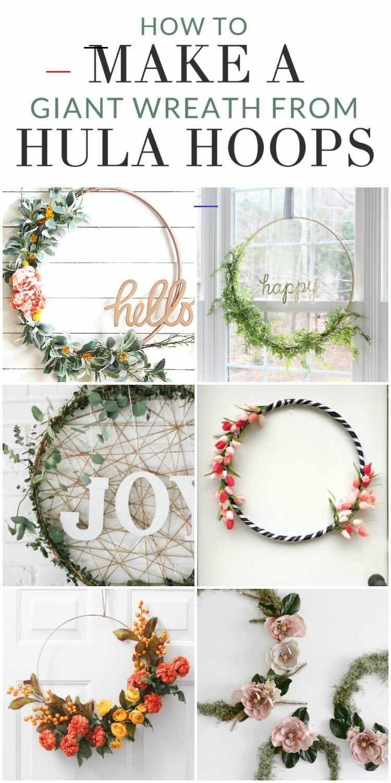 8 Inspiring Hula Hoop Wreath Ideas To Make For Any Season The Crazy Craft Lady Diydecor Get Inspire Selbermachen Basteln Zu Hause Kranze Diy Kranz Ideen