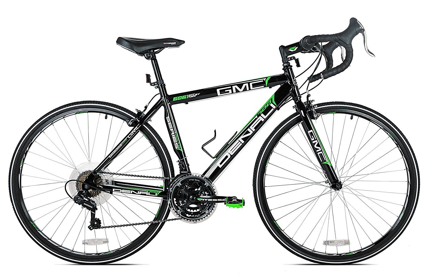 Amazon Com Gmc Denali Road Bike 700c Black Green Large 63 5cm Frame Road Bicycles Http Amzn To 2tevl9c Best Road Bike Bike Reviews Gmc Denali