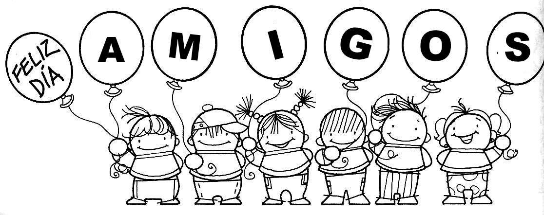 Desenhos Muito Fofos Do Dia Do Amigo Ou Da Amizade Para Colorir