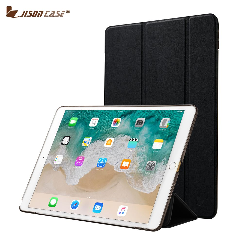 Pro 3 tablet sleeve case slim wallet pu leather protective skin pouch - Jisoncase Smart Cover For Ipad Pro 10 5 2017 Case Pu Leather Pc 3 Foldable Flip Smart