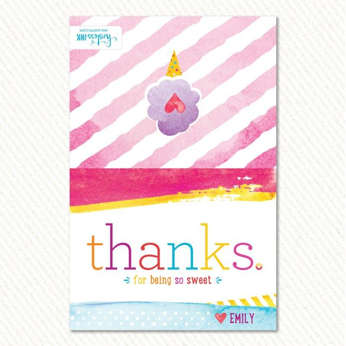 Sweet as Candy Folded Thank You Cards | Hostess Ink ...