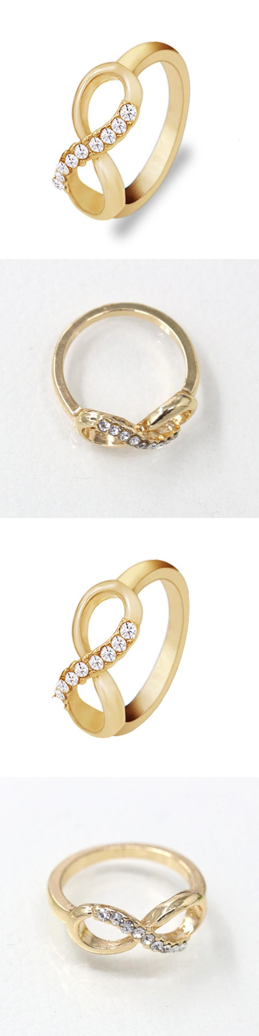 zircon party copper gemstone plated fashion rings gold flower women rose korean