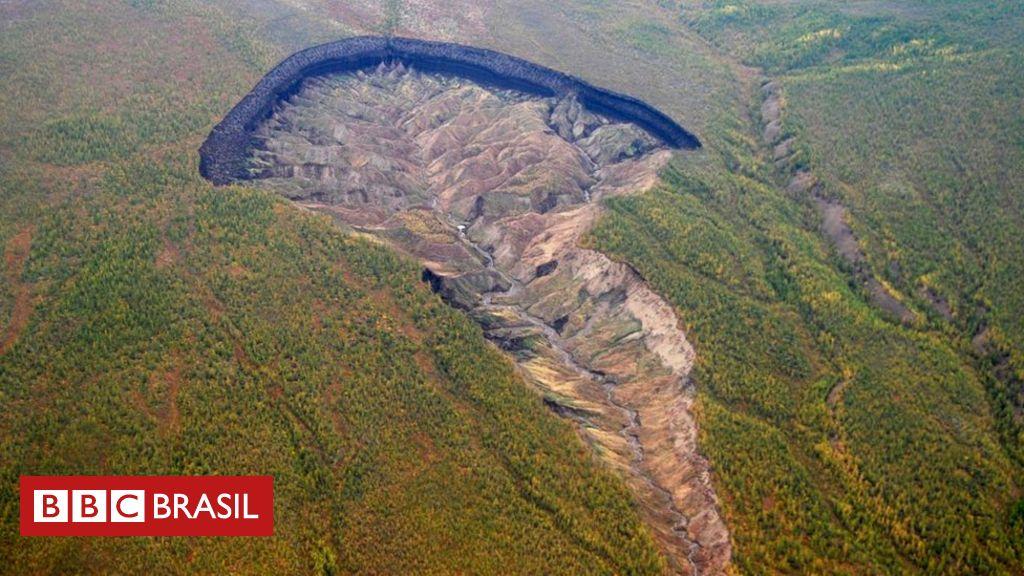 Buraco de 1 km na Sibéria aumenta de 10 a 30 metros por ano e, além de expor detalhes do passado, dá pistas importantes sobre impacto do aquecimento global.