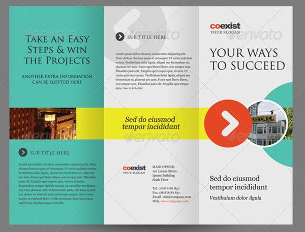 Premium  Free Brochure Templates  Tri Fold Brochure Tri