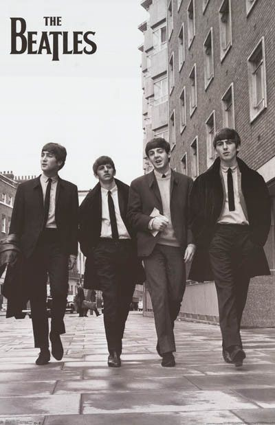 Beatles Taking a Stroll Lennon McCartney Music Poster 24x36 Más