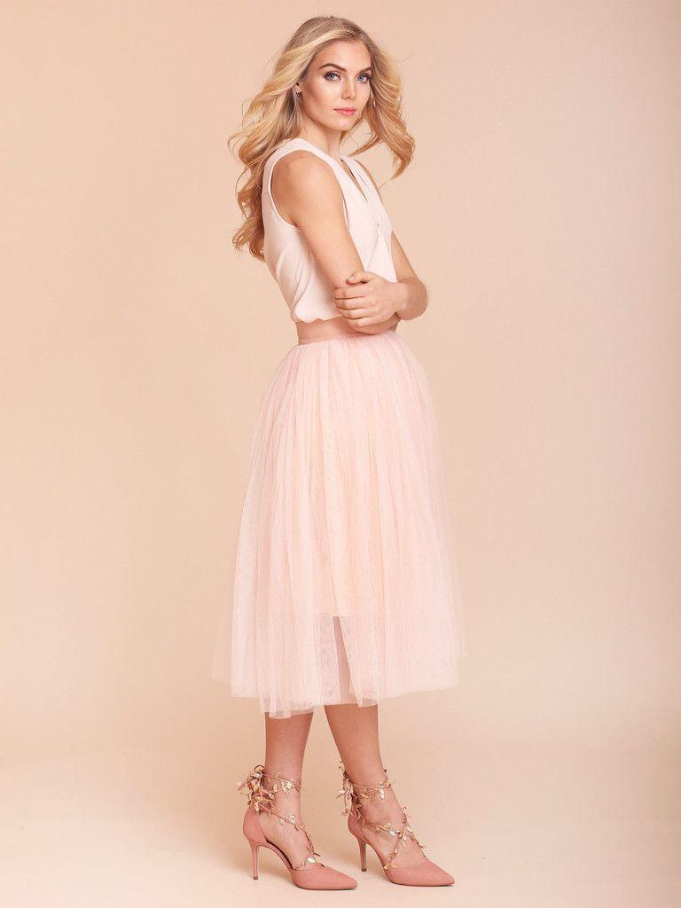Callia Tulle Skirt, Blush Tulle, Tulle skirt, Pale Pink Tulle, Pink ...