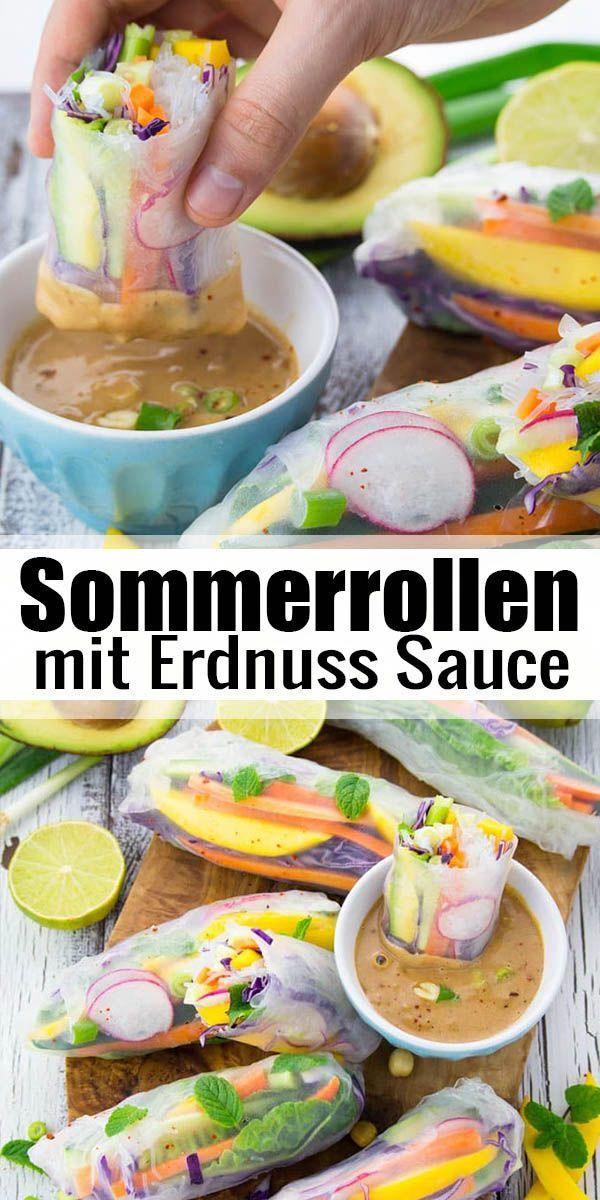 Photo of Sommerbrötchen mit Erdnusssauce