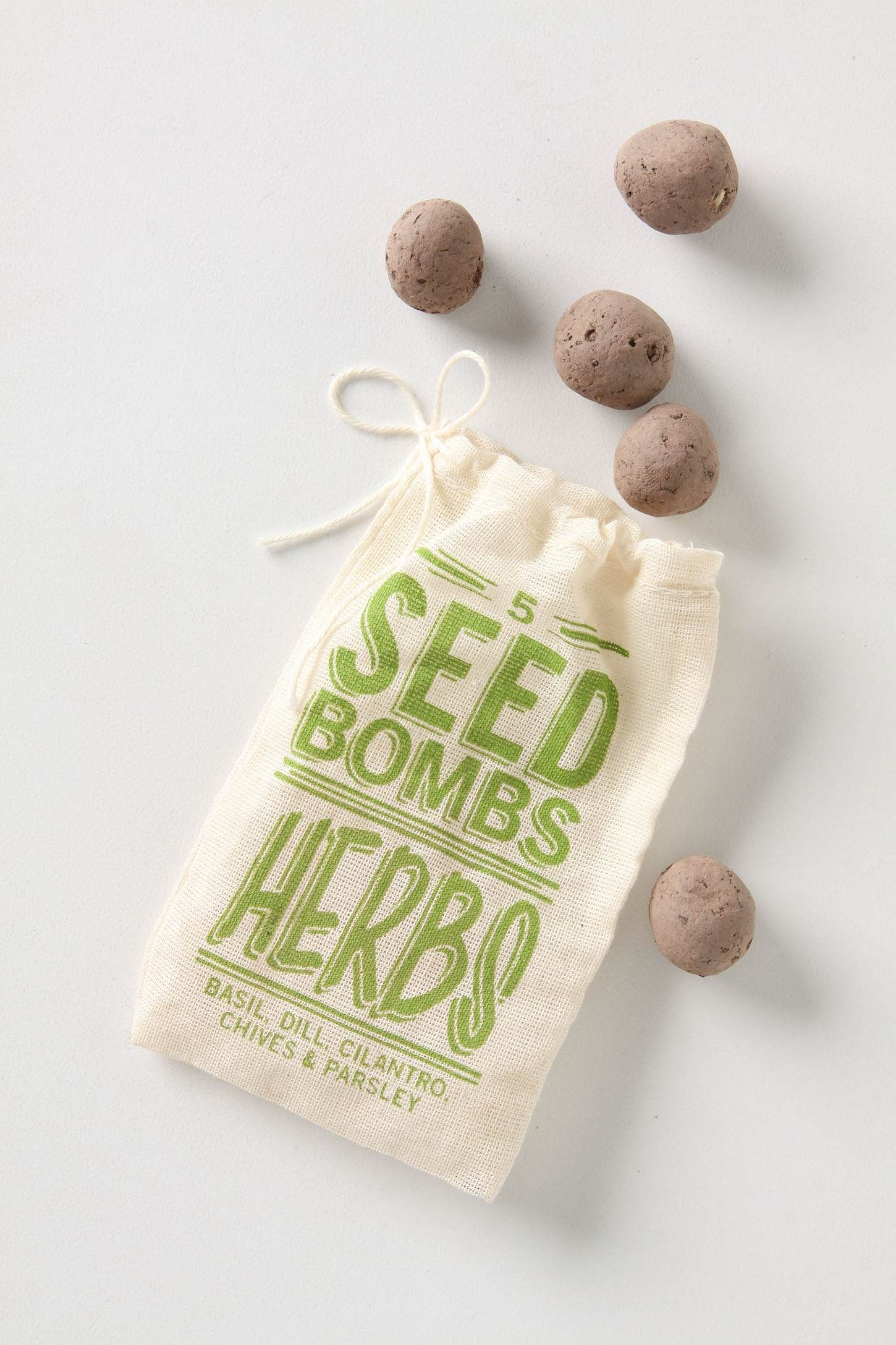 Seed Bombs $6.00 from anthropologie. I\'m thinking about these as ...