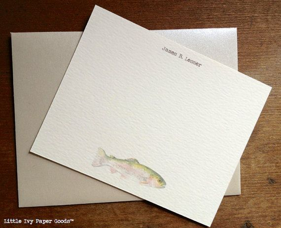Perfect for the fisherman in the family.. awesome personalized stationary.. would be good for graduation thank you notes!
