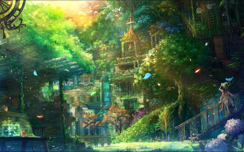 Anime scenery anime scenery pinterest - Anime scenery wallpaper laptop ...