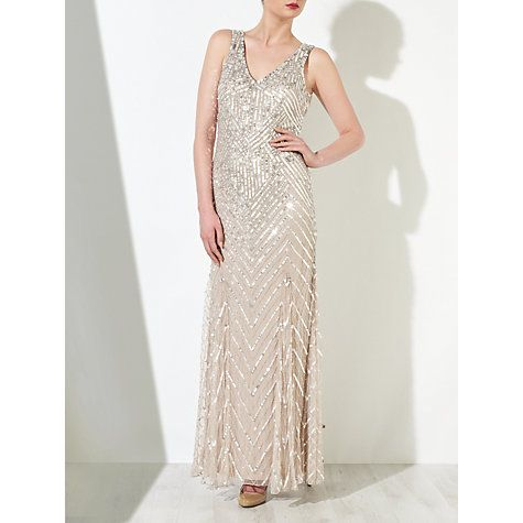 Buy John Lewis Sidney Sequined Dress, Champagne Online at johnlewis ...