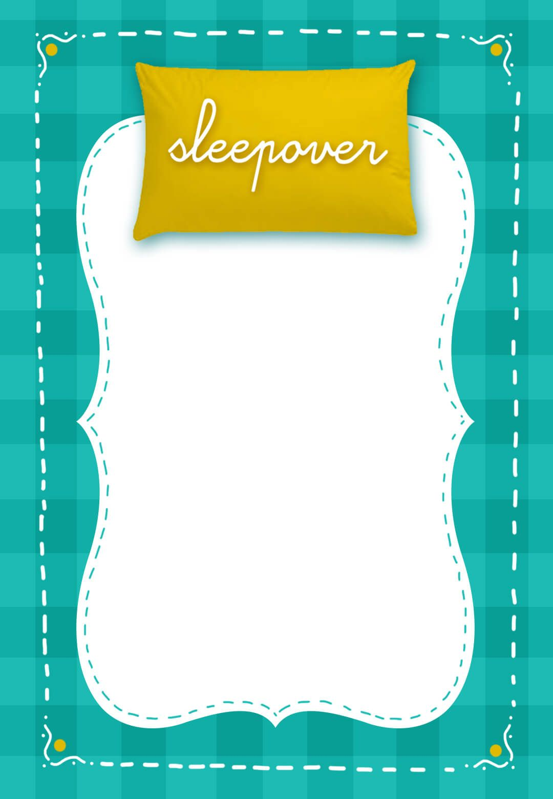 Fun Sleepover Party - Free Printable Sleepover Party Invitation ...