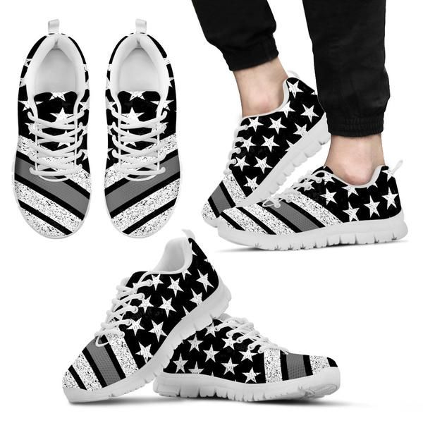 Thin Grey Line Flag Premium Mesh Sneakers | Shoes, shoes