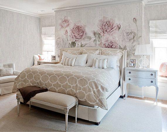Diese Misty Aquarell Rose Wallpaper Ist Speziell Entworfen