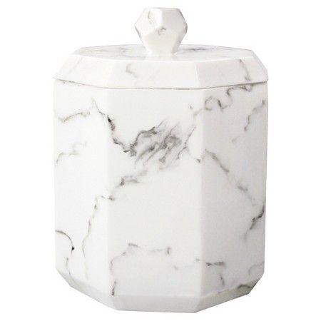 Marble Facet Cotton Ball Jar - Allure : Target