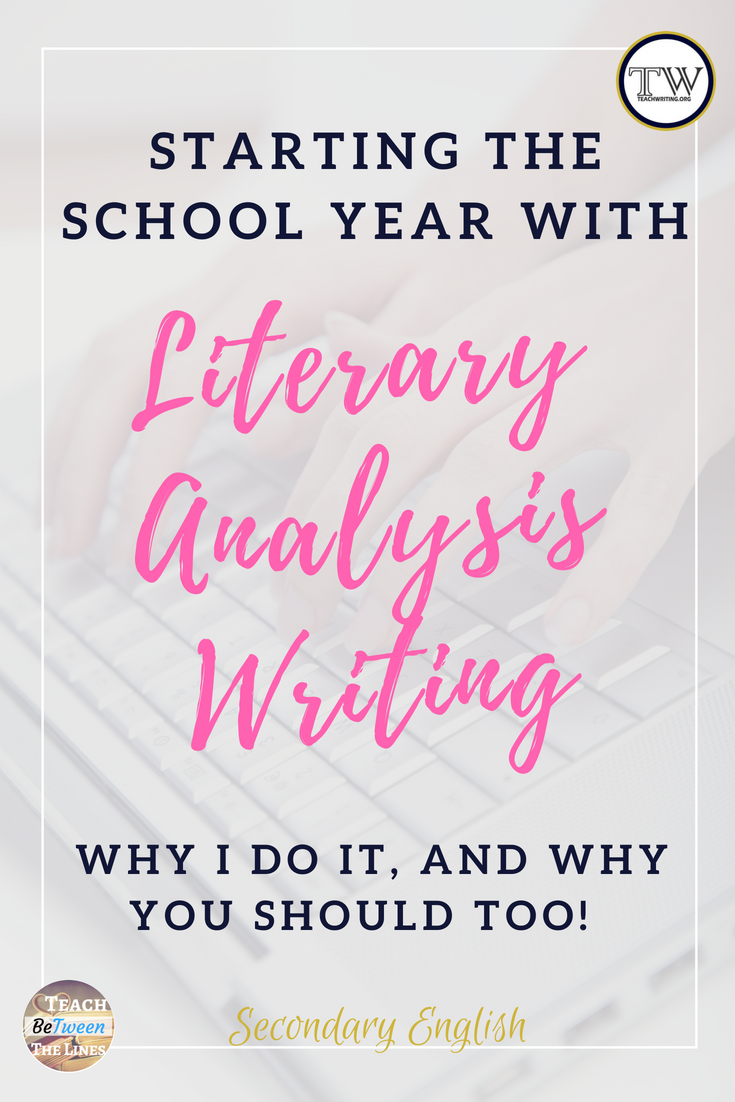 Do a literary analysis
