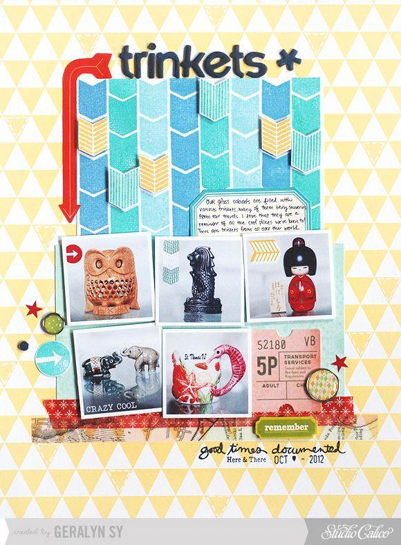Trinkets - @Gail Mounier Calico November Kit #scrapbooking #scrapbookingidea