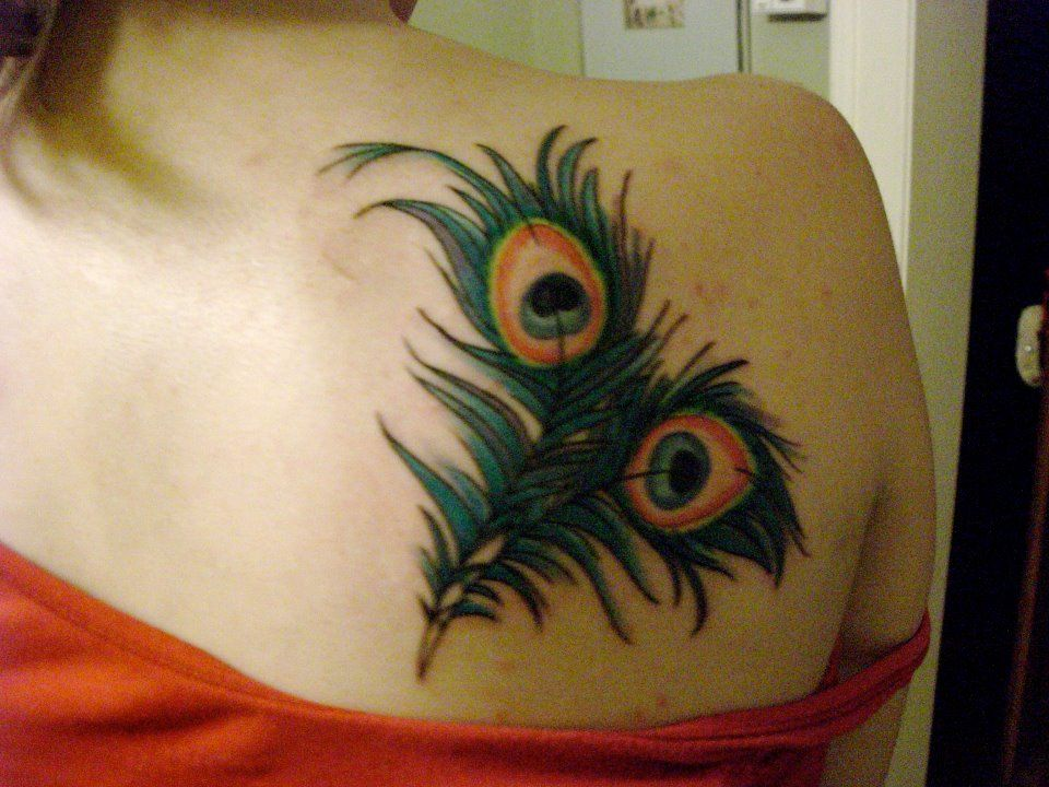 Pretty Peacock tattoo, Peacock feather tattoo, Feather