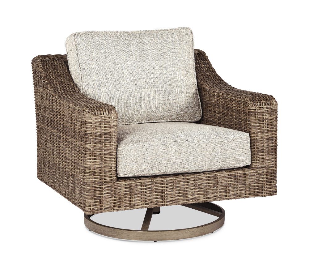 Beachcroft Swivel Lounge Chair   Outdoor swivel chair ... on Beachcroft Beige Outdoor Living Room Set id=58294