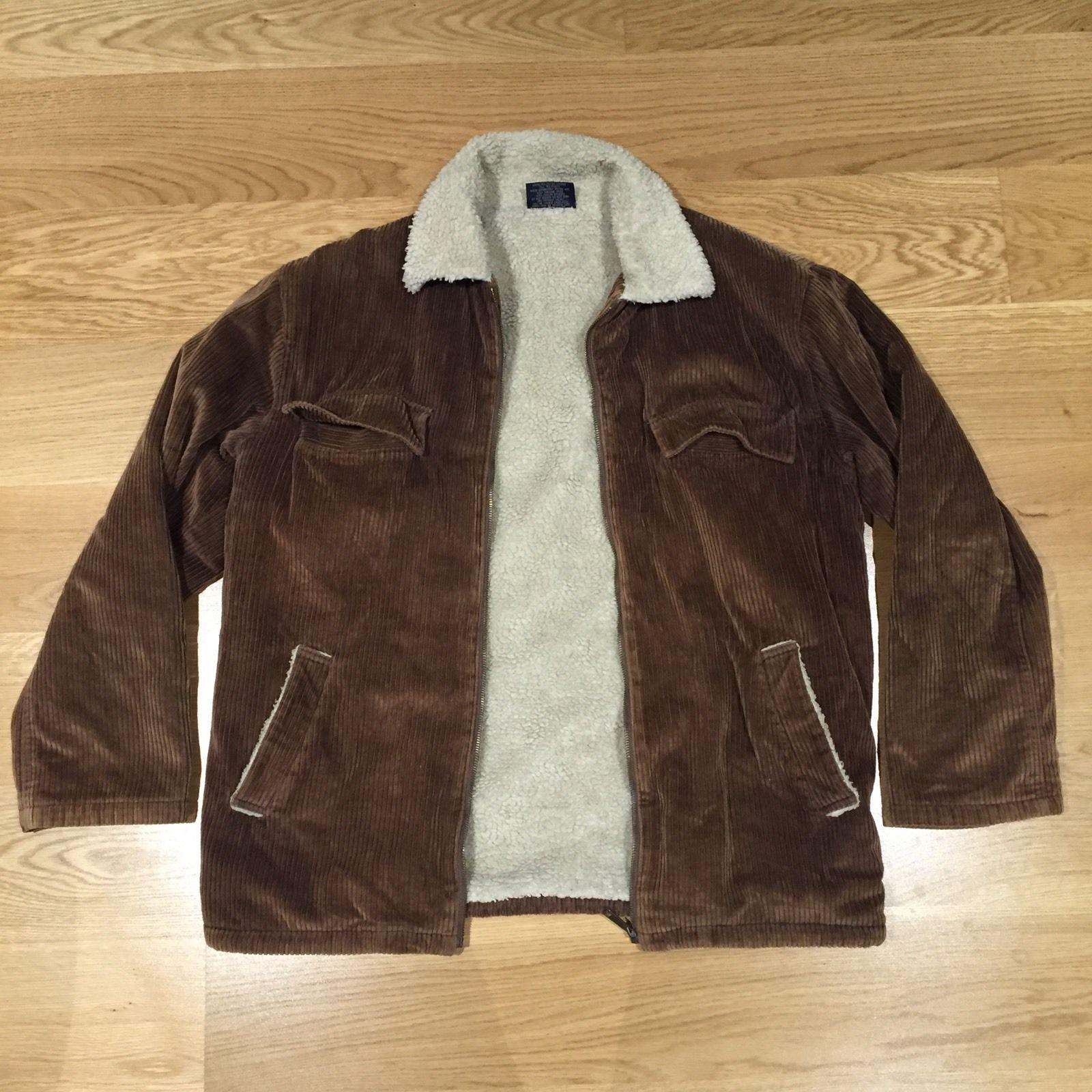 Light Brown Corduroy Jacket MEN'S Polyester Viscose Lining