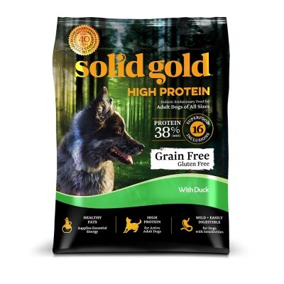 Solid Gold High Protein Grain Free Duck Dry Dog Food 4 Lb With