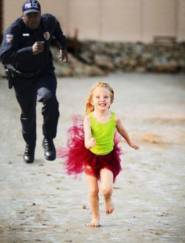 run little girl run from police accidental ladies big olos