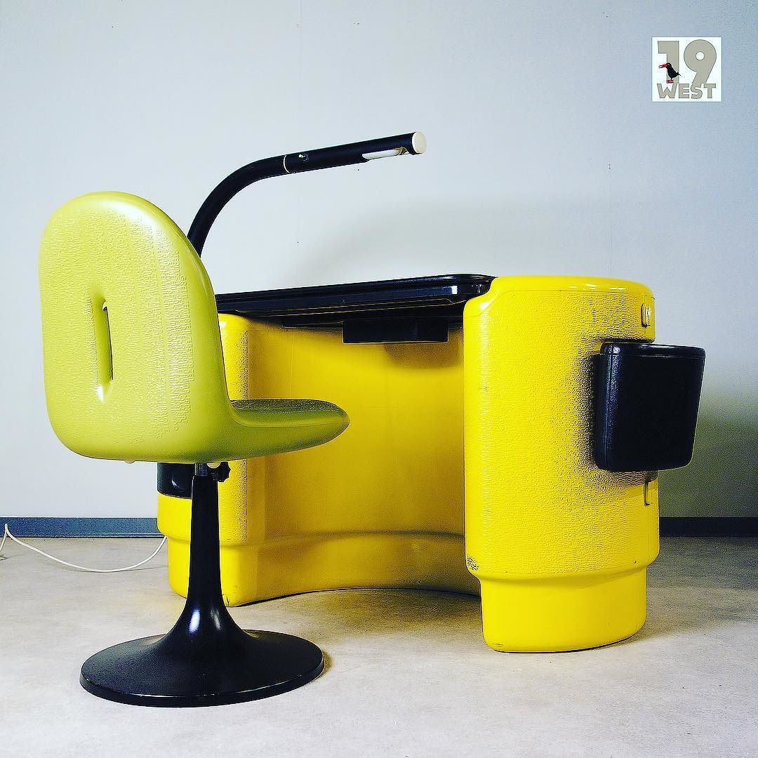 Just In And Soon On A Hadi Desk With Matching Chair By Ernst Igl 19west Vintage Design Germandesign Spaceage Sixties Desk Bayer Ernstigl