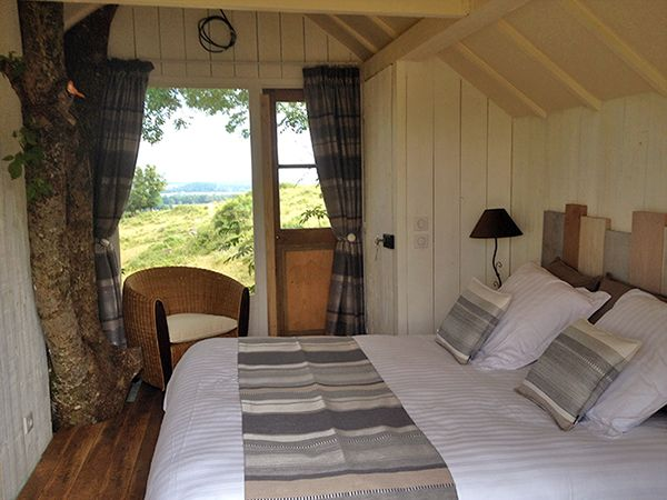 Guest room with breathtaking view at Clos de Fougeres Guesthouse in Burgundy