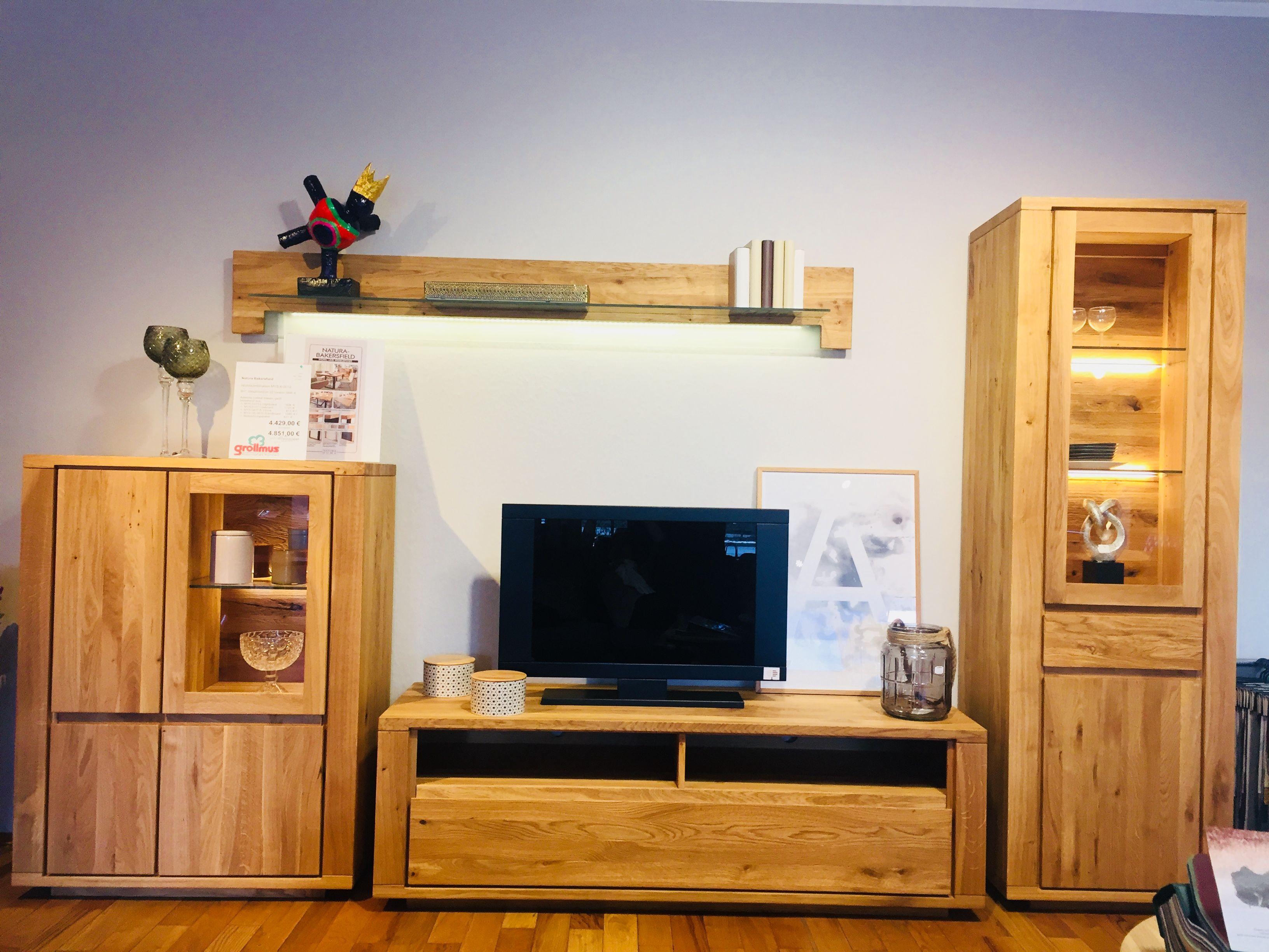 Wohnzimmerschrank rustikal ~ Wohnwand von natura bakerfield in asteiche rustikal massiv geölt