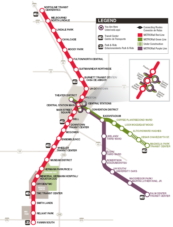 METRORail System Map Plan | IT'S A TEXAS THANG | Pinterest