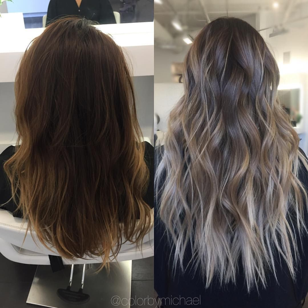 Ashy ombre hair and nails ium loving pinterest hair balayage
