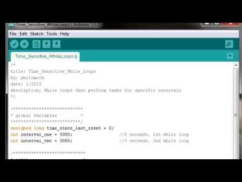 Arduino Programming Tutorials How To Construct Time Sensitive