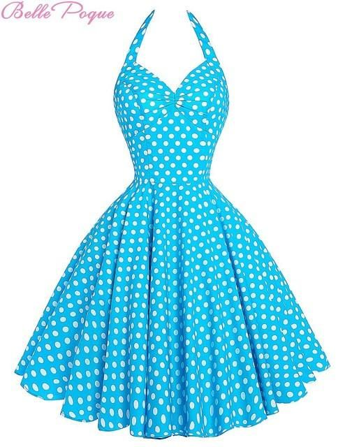 2fab735d49abe Summer Beach Dress pin up Audrey Hepburn Style 2017 Retro Vintage ...