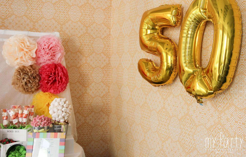 Fiesta 50 a os mesa de dulces para cumplea os de 50 a os - Decoracion para 50 cumpleanos ...
