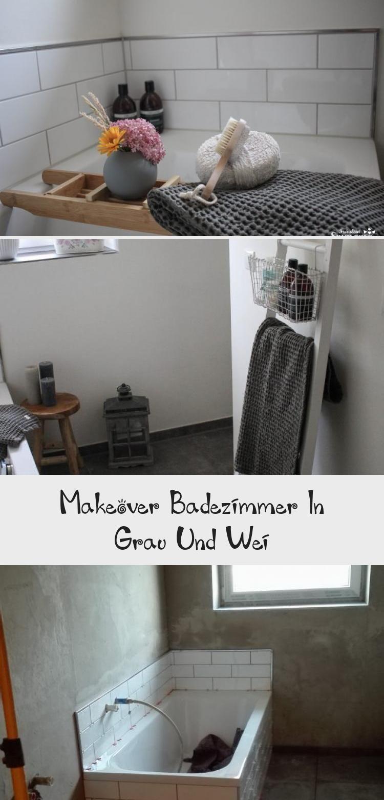 Makeover Badezimmer In Grau Und Weiss Bathroom Art Home