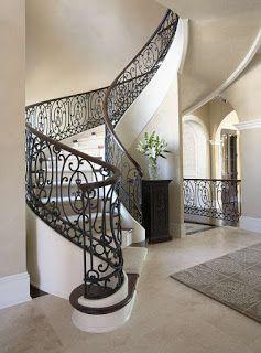 model sederhana railing tangga layang besi tempa klasik