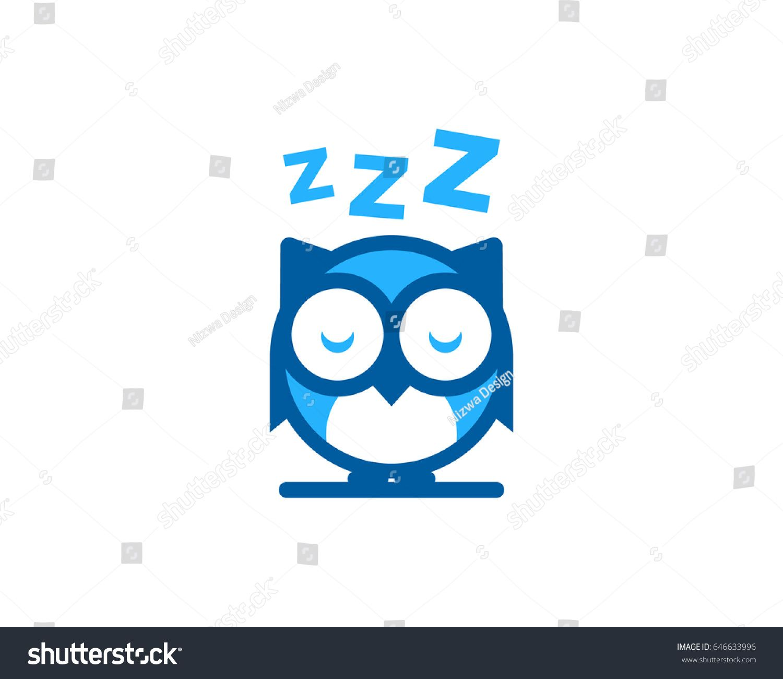 Night Owl Sleep Icon Logo Design Element Sleep Logo Owl Logo Logo Design