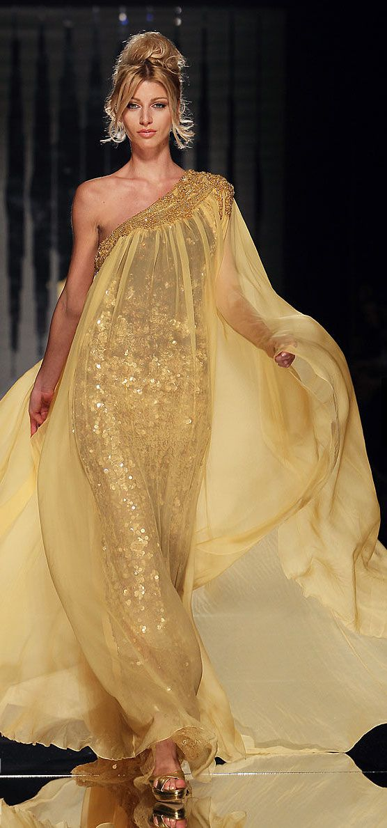 COUTURE gold gown