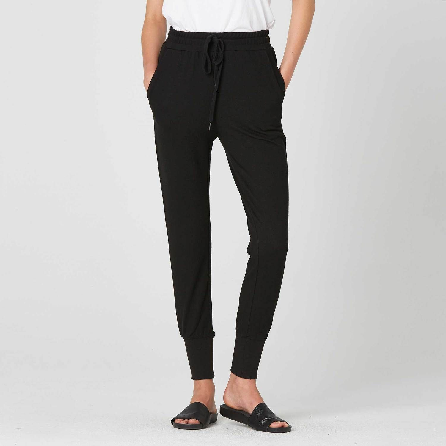 Our Women S Joggers In Black Are The Only Sweatpants You Need For A Casual Night In Or Casual Day Out Made Of A L Joggers Womens Tapered Joggers Jogger Pants