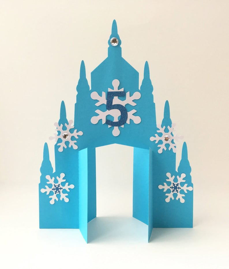 Ice Castle Centerpiece With Personalized Age (or Name