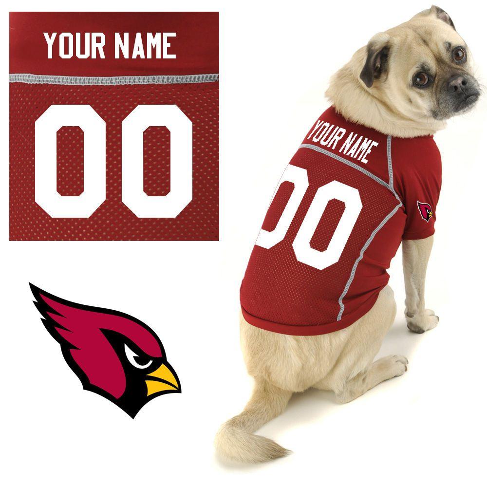 Arizona cardinals custom dog jersey this should say oz