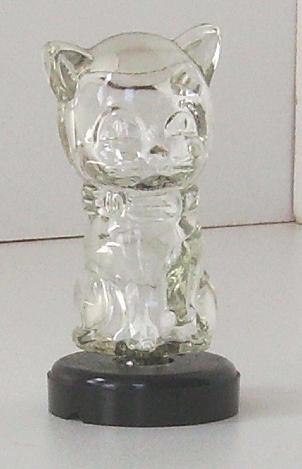 Scent bottle glass cat vintage novelty perfume ebay cat perfume