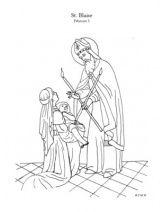 Feast of saint blaise coloring pages pinterest catholique and coloriage - Coloriage catholique ...