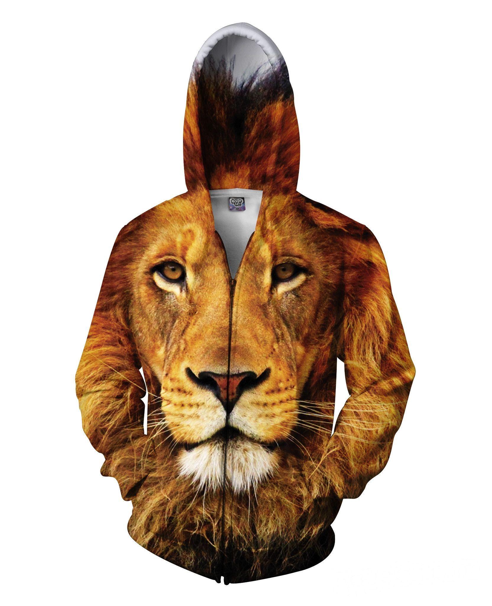 Lion Zip-Up Hoodie