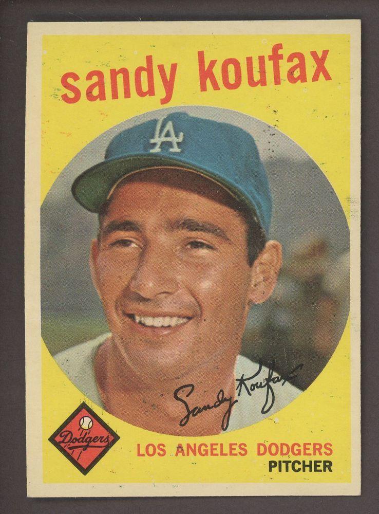 1959 topps 163 sandy koufax los angeles dodgers hof