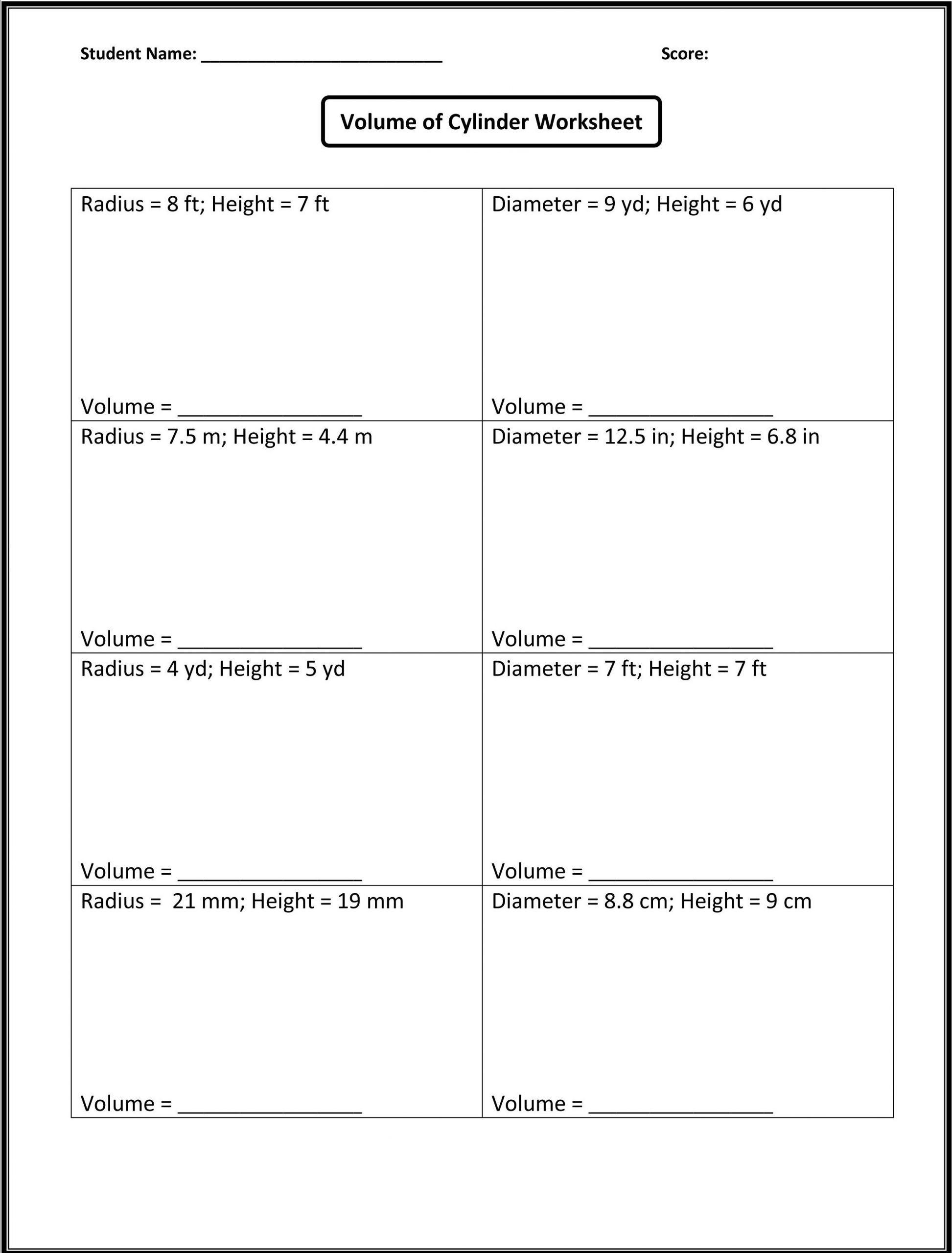 4 8th Grade Math Worksheets Algebra 8th Grade Math